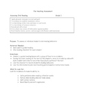 Guided Reading Worksheets and Assessment Materials