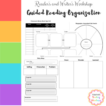 guided reading worksheets and teacher organization by