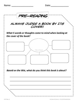 Guided Reading Worksheets for Any Fiction Book