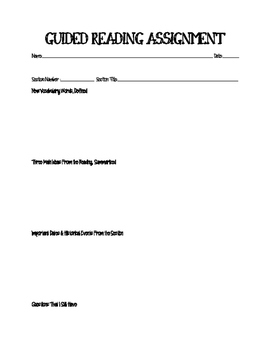 Guided Reading - World History