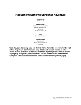Guided Reading & Writing Unit 2nd-3rd Grade Flat Stanley's Christmas Adventure