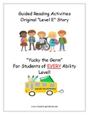 """Guided Reading Worksheets - """"Yucky the Germ"""" - Level E - w Learning Disabilities"""