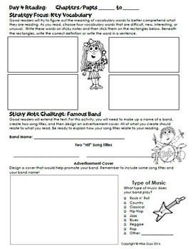 Interactive Sticky Note Reading Activity