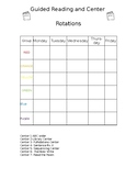Editable Guided Reading and Center Rotation Schedule