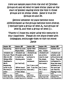Guided Reading and Centers System