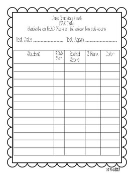 Guided Reading and Data Binder Bundle