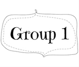 Guided Reading and Guided Math Group Signs