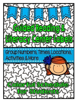 Back to School Resource: Guided Reading and Literacy Center Schedule Display