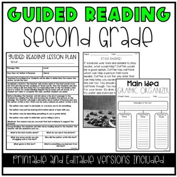 Guided Reading and Literacy Centers Bundle (2nd Grade)