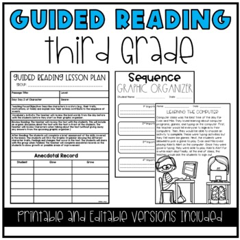 Guided Reading and Literacy Centers Bundle (3rd Grade)