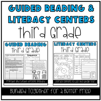 Guided Reading and Literacy Centers Bundle: 3rd Grade