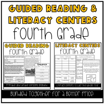 Guided Reading and Literacy Centers Bundle (4th Grade)