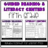 Guided Reading and Literacy Centers Bundle: 5th Grade