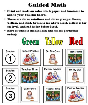 Guided Reading and Math Rotation Guide EDITABLE