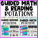 Guided Reading and Math Rotations EDITABLE