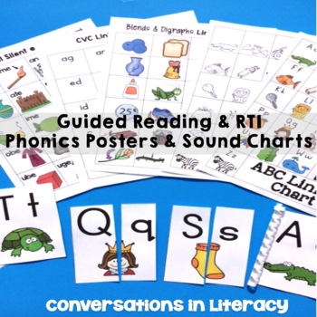 Guided Reading and RTI Word Work Linking Charts