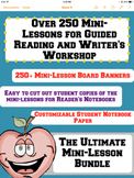 Guided Reading and Writer's Workshop Lesson Planning Mega-Bundle