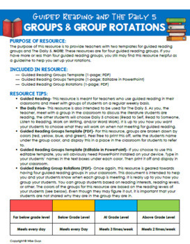 Guided Reading and the Daily 5 in the Intermediate Grades Schedule