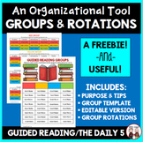 FREE Guided Reading Group and The Daily 5 Rotation Schedule
