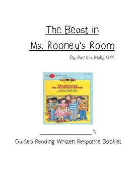 Guided Reading compBooklet for The Beast in Ms. Rooney's Room by Patricia Giff
