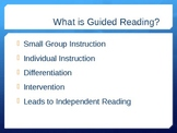 Guided Reading done right in your classroom!