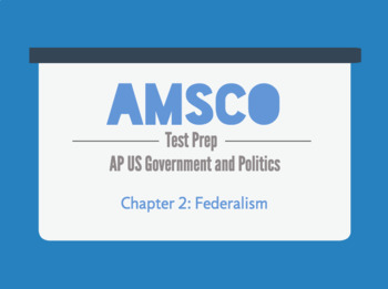 Guided Reading for AMSCO AP US Government - Chapter 2: Federalism
