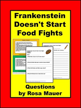 Bailey School Kids Frankenstein Doesn't Start Food Fights Literacy Unit