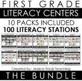 Guided Reading for First Grade - THE COMPLETE BUNDLE (100 Literacy Stations)
