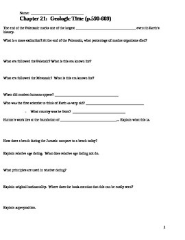 Guided Reading for Geologic Time