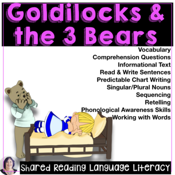 Shared & Guided Reading for Special Education with Goldilocks and the 3 Bears