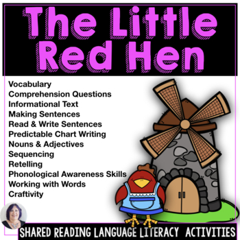Shared Reading and Writing The Little Red Hen for Speech Language or Sped