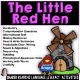Shared Reading and Writing The Little Red Hen Speech Thera
