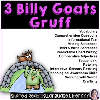 Shared & Guided Reading for Special Education with Three Billy Goats Gruff