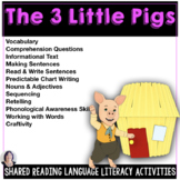 Shared Reading Activities Three Little Pigs Speech Therapy Special Education