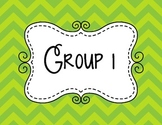 Guided Reading group signs
