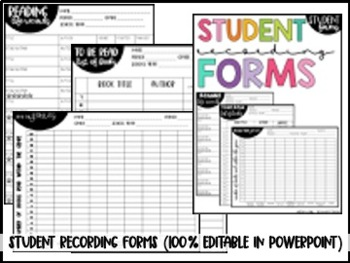 Guided Reading in Middle School Forms and Recording Sheets