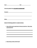 Guided Reading - level L Text dependent questions