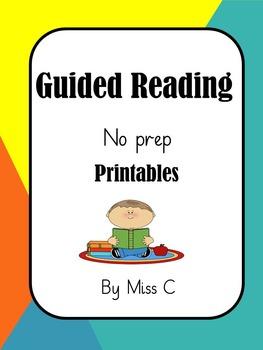 Guided Reading no prep activity bundle