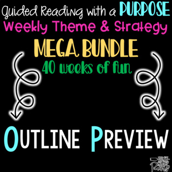 Guided Reading with a Purpose Outline Preview Freebie