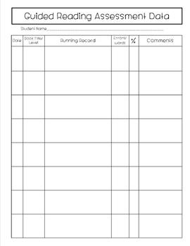 Guided Reading/CAFE Lesson Plan Template