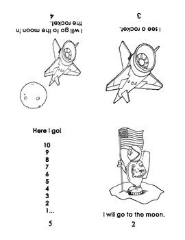 """Guided Reading/Take HomeBook:  """"Blast Off!"""", p. 2"""