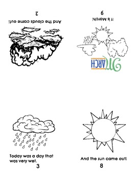 Guided Reading/Take HomeBook:  Weather book, p.2