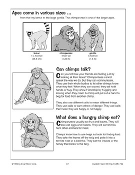 Guided Report Writing: Chimpanzees