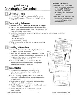 Guided Report Writing: Christopher Columbus