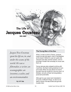 Guided Report Writing: Jacques Cousteau