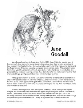 Guided Report Writing: Jane Goodall