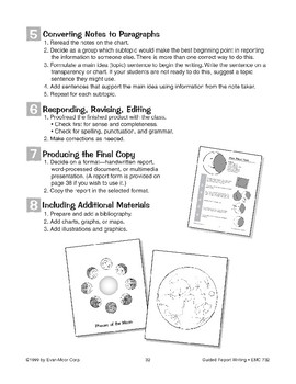 Guided Report Writing: The Moon