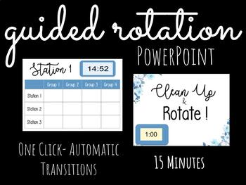Guided Rotation Powerpoint with Timer- 15 Minutes!