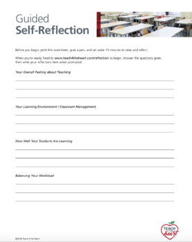 Guided Self-Reflection for Teachers