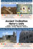Guided Social Studies: Ancient Civilizations Bundle